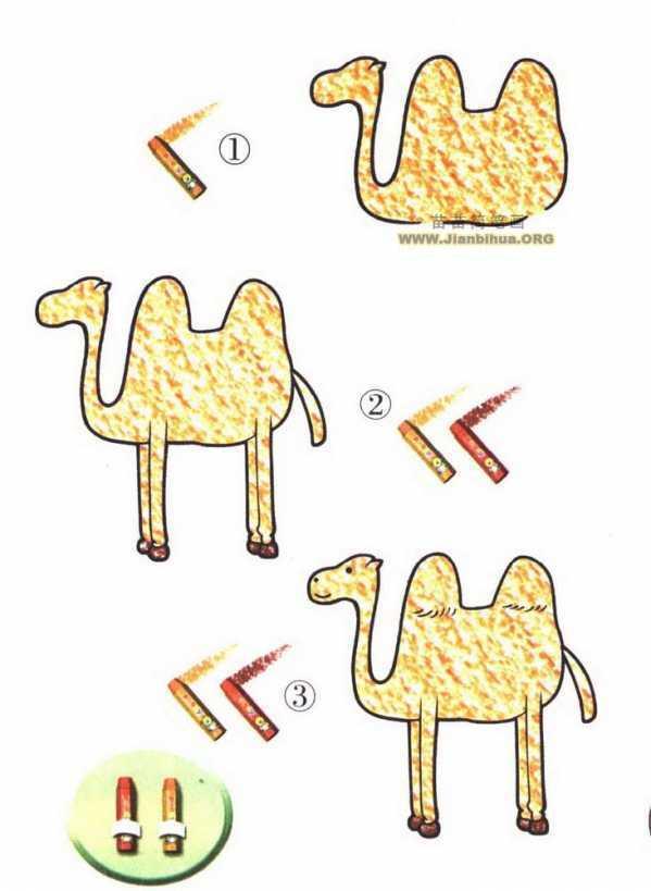 骆驼的简笔画 如何画骆驼简笔画图片教程