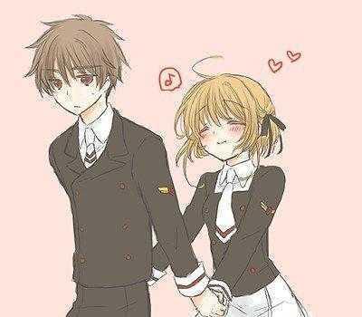 情侣卡通图片一男一女 唯美动漫情侣图片一男一女