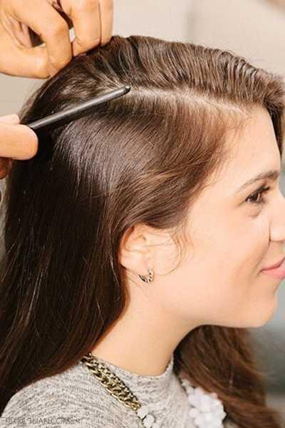 三七分头发定型 三七侧分的长发侧编发型教程图片