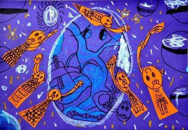 地球日画画儿童 奇思妙想的地球日儿童画让你大开眼界