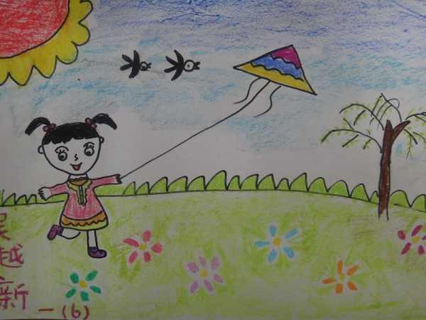 幼儿园春天来了简笔画作品图片4图片
