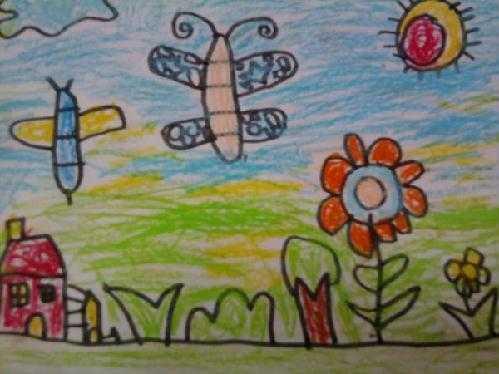 幼儿园春天来了简笔画作品图片6