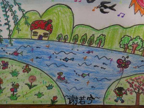 幼儿园春天来了简笔画作品图片3图片