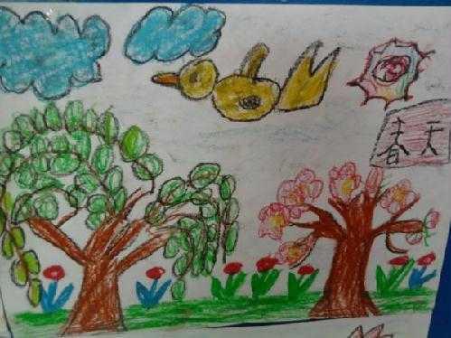 幼儿园简笔画春天 幼儿园春天来了简笔画