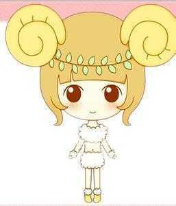 12星座可爱少女白羊座 12星座卡通图片