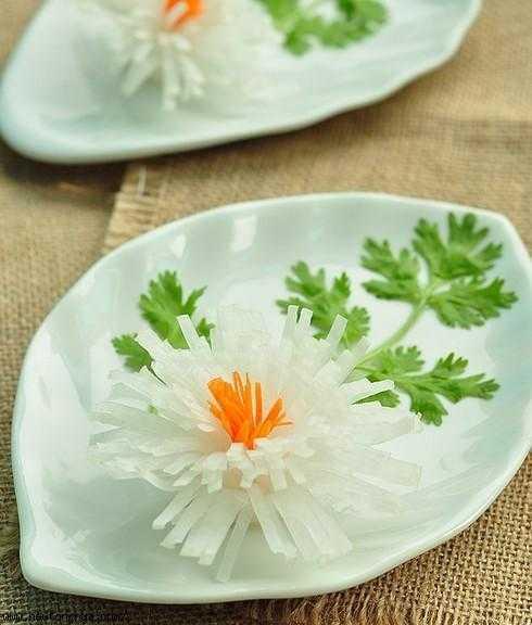 情人节菜品摆盘花饰 各种菜品摆盘的装饰花图片