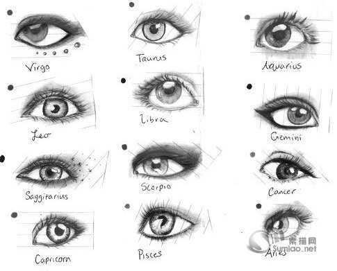 素描眼睛的画法步骤图 素描入门教程