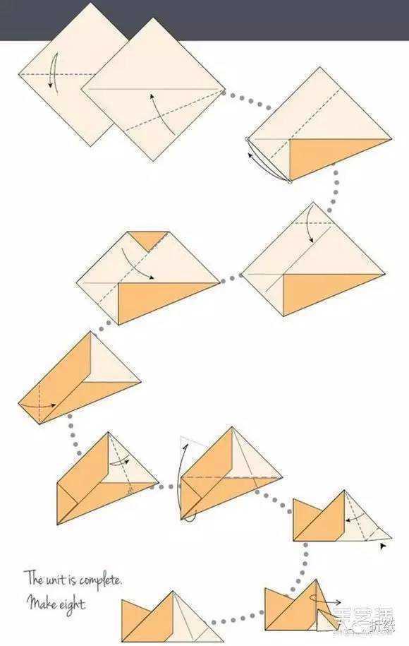 用纸叠星星的步骤图片 折纸星星的方法步骤