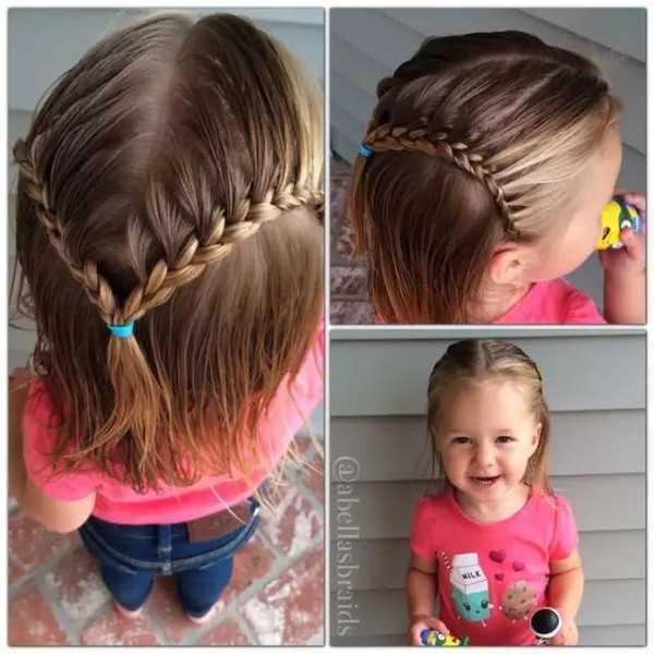 女童编发 头发少的女孩编发