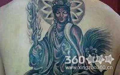 天蝎座纹身守护神图案 十二生肖本命佛纹身图片欣赏