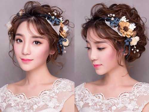 2017韩式新娘发型图片 新娘发型图片2017款