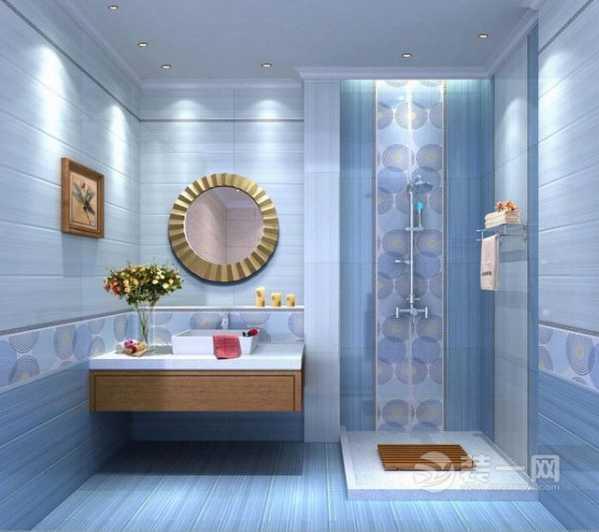 使卫生间有好的装饰的效果;可以搭配的颜色较深的地砖,这样才不会显得