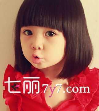 女童短发图片最流行 5岁女童时尚发型图片