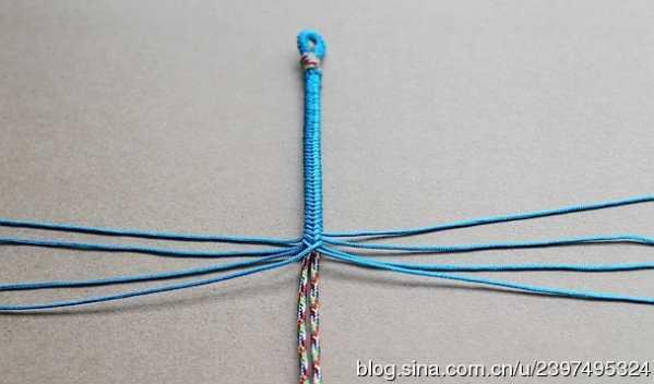 四股辫手绳编法图解 九乘迦叶金刚绳
