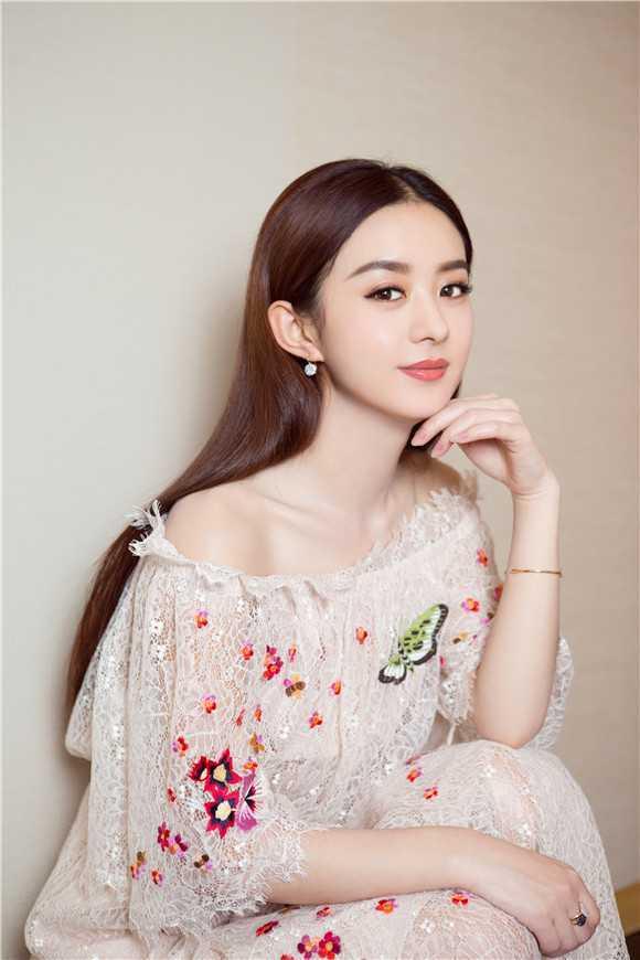 赵丽颖最美的长裙图片 赵丽颖粉色仙气长裙