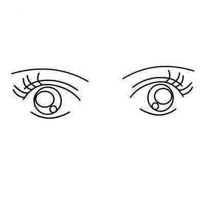大眼睛卡通女孩简笔画 卡通人物眼睛简笔画