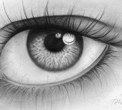 素描卡通眼睛图片 简单动画手绘眼睛铅笔画图片