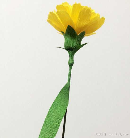 康乃馨皱纸花的做法 康乃馨皱纹纸花的制作方法