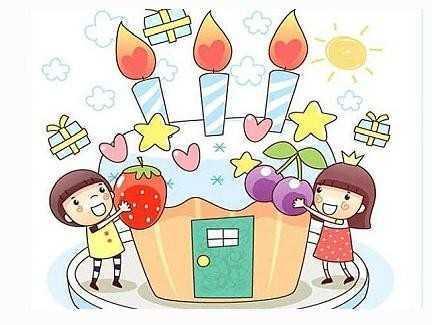 可爱简笔画蛋糕