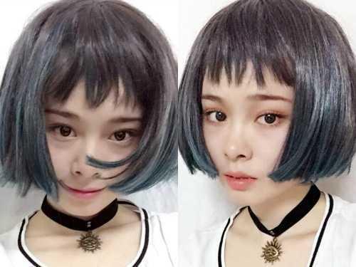 原宿女生齐耳短发发型 女生齐耳短发最新发型图片