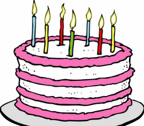 儿童简笔画生日蛋糕 彩色儿童简笔画蛋糕
