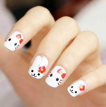 适合圆指甲的美甲图案 短指甲美甲图片
