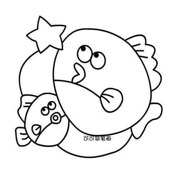 双鱼座的画法儿童画,十二星座简笔画图片,双鱼星座简笔画。卡通类简笔画。 双鱼座,生于每年2月19日至3月20日,罚木星守护射手座与双鱼座。双鱼座的守护星为海王星。双鱼座是十二星座中最难评价的星座,白羊的第一宫代表着开端,一切单纯的开始,而双鱼所掌管的第十二宫,即最后一宫,却集合了前十一宫的复杂。