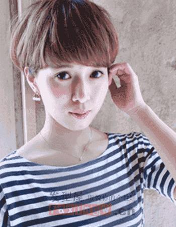 女士明星超短发纹理烫 短发纹理烫发发型设计图片