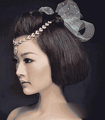 新娘短发造型图片韩式 韩式短发新娘发型