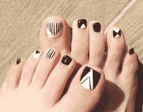 脚指甲图片 脚趾美甲图片2017新款式