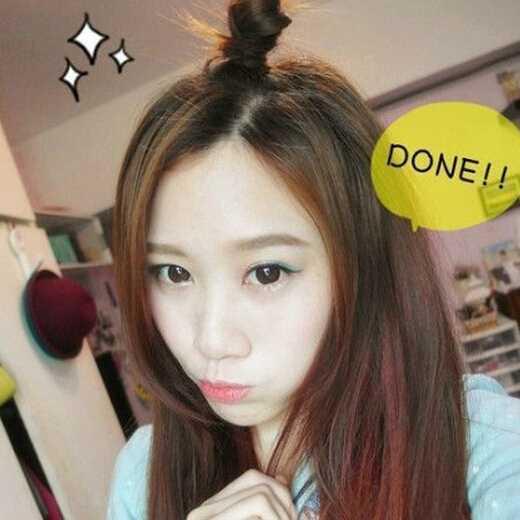 短发有刘海苹果头扎法 可爱甜美苹果头扎法教程图解