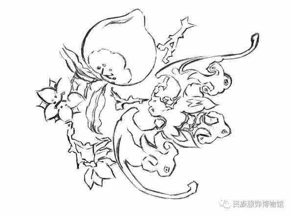 斜纹暗花绸图案提取手绘图