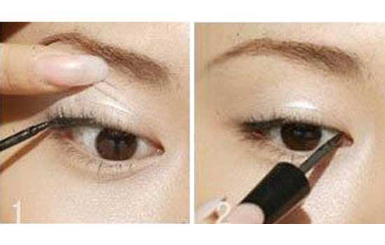 内眼线画法图解 内眼线的画法步骤图解