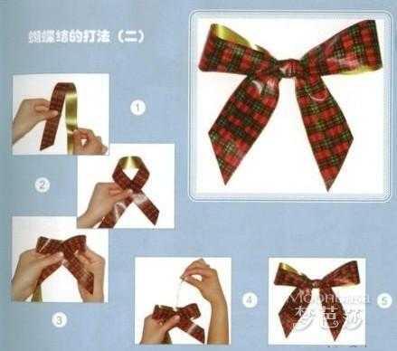 袖口蝴蝶结的系法图解 蝴蝶结有哪几种系法