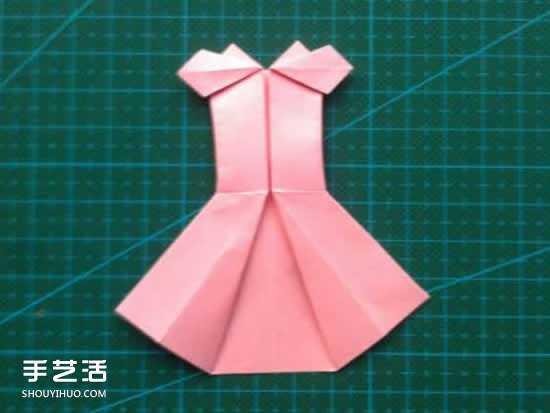 用纸做裙子的步骤图片 儿童折纸裙子图解教程