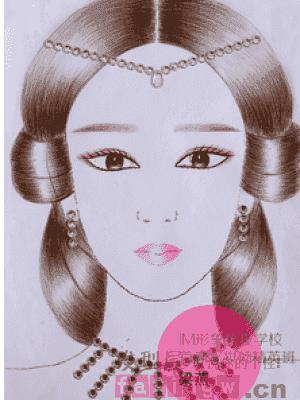 纸妆中式新娘发型图片 纸妆新娘发型图