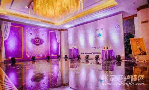 粉紫色婚礼 甜蜜粉紫色主题婚礼现场背景布置图片